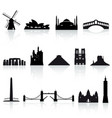 world monuments set 2 vector image vector image