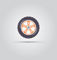car wheel isolated flat symbol vector image