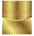 Vintage Pattern Golden Royal Design vector image