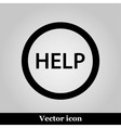Help icon on grey background vector image