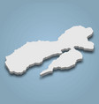 3d isometric map ambon is an island in vector image vector image