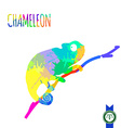 Abstract Colorful Chameleon Silhouette vector image vector image