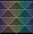 abstract holographic geometric seamless patterm vector image