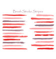 abstract ink brush stroke stripes sets vector image