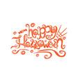 art card for happy halloweendesign template vector image