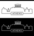athens skyline linear style editable file vector image vector image