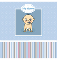 Baby boy birth Greeting Card vector image vector image