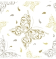 beautiful seamless background butterflies vector image vector image