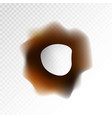 big burnt hole on transparent background isolated vector image vector image