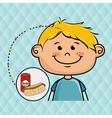 boy fast food vector image