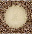 brown frame ornament old background vector image vector image