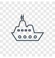 cargo ship front view concept linear icon vector image