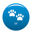 cat step icon blue vector image