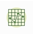 chart green icon vector image