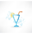 cocktail grunge icon vector image vector image