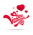 congratulations on valentine day vector image vector image