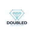 diamond tech logo design template creative vector image vector image