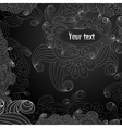 floral decorative black and white background vector image