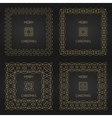 Golden decorative frames set design vector image vector image