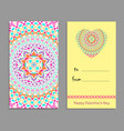 greeting card template to valentines day vector image vector image