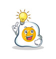 have an idea fried egg character cartoon vector image vector image