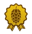 Hop gold brewery beer icon flat web sign symbol vector image vector image