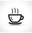 hot drink icon symbol vector image vector image