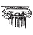 ionic capital a ionic column vintage engraving vector image vector image