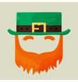 Irish St Patricks Day leprechaun icon vector image