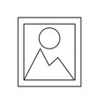 landscape picture symbol vector image vector image