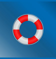 lifebuoy marine with a metal rim vector image