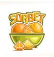 logo for lemon sorbet vector image