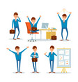 man businessman characters in office ceo at work vector image vector image