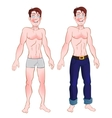 Man in jeans and nude vector image