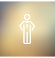 Man standing thin line icon vector image vector image