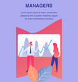 managers team service flyer brochure template vector image vector image