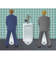 Men Using Urinal vector image vector image