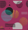 modern simple seamless pattern with geometric vector image vector image