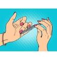 Nail care beauty woman vector image vector image