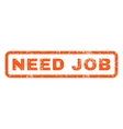 Need Job Rubber Stamp vector image vector image
