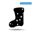 new years stocking icon eps vector image vector image