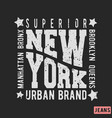 new york vintage stamp vector image vector image