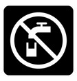 non potable water icon vector image vector image
