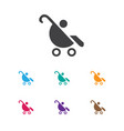 of kid symbol on baby stroller vector image vector image