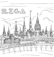 Old Town and River Daugava Riga Latvia vector image