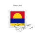 Palmyra Atoll Flag Postage Stamp vector image vector image
