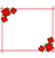 Poinsettia Flowers Forming A Christmas Border vector image vector image