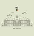 prince-bishops palace in liege vector image vector image