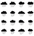 rain icon set vector image