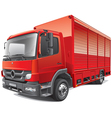 red delivery truck vector image vector image
